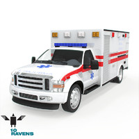 3d model car ambulance