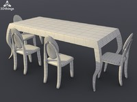 3d model of kitchen furniture
