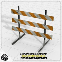 traffic barricade 3ds