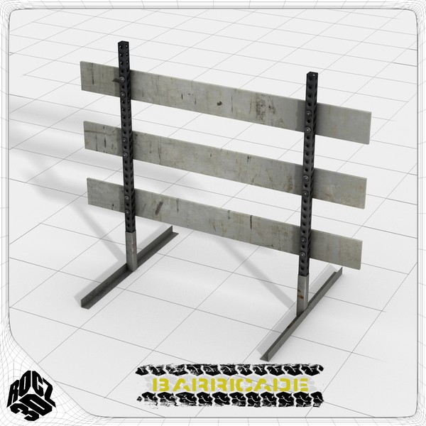 traffic barricade 3ds - Construction Barricade-Rocz3D... by Rocz3D