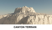 3d c4d canyon terrain