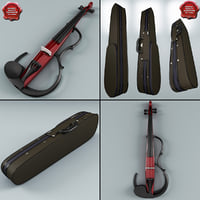 violin case yamaha 3d model