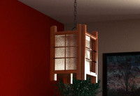 3d asian style hanging lamp model
