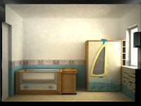kids bedroom 3d 3ds