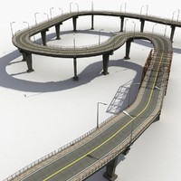 bridges road track 3d model