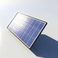 3d model realistic solar panel