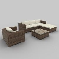 Rattan Seat Set 08