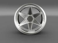 3d model car tyre rim