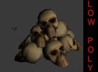 maya pile heads bones