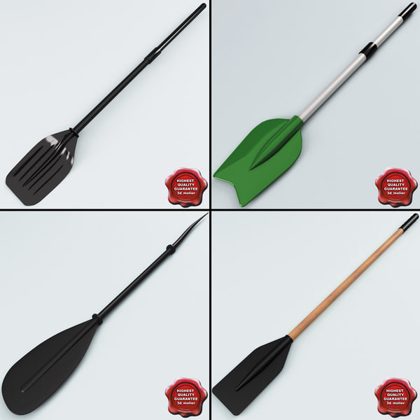 boat paddles max - Boat Paddles Collection... by 3d_molier