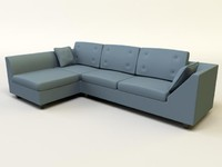 3d model contemporary sofa design