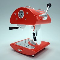 retro espresso machine 3d lwo
