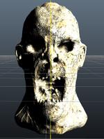 stone zombie obj