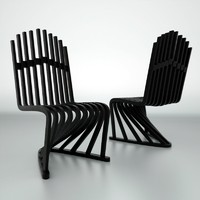 stripe chair 3d max