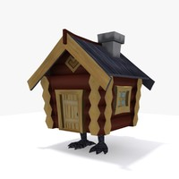 3d model of baba hut chicken