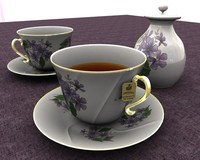 tea set ornamental obj