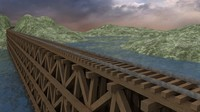 Train Trestle Bridge Environment