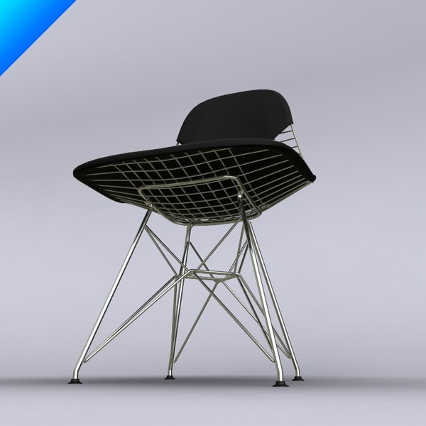 Eames wire chair 3d model for Icon mobel eames