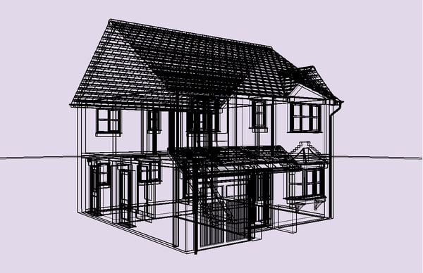 House sketchup materials 3d 3ds for 3d garage builder