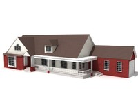 architectural 2 3d model