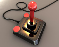 3d model kempston competition pro joystick