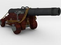 gun navy 3d obj