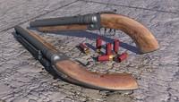 3d shotgun pistols model
