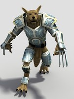 character werwolf wolf 3d model