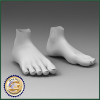 3d model feet female