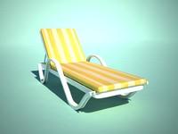 chaise longue obj