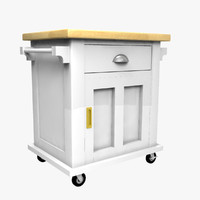 3d kitchen cart model