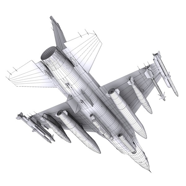 general dynamics f-16 fighting falcon 3d model - F-16C Fighting Falcon Block 25... by file404