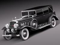 3d cadillac 1930 v16 sixteen model