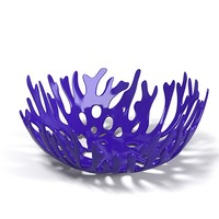 Cobalt blue sea coral art glass bowl Contemporary modern vase