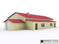 3d model building barn