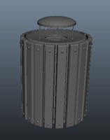 metal trash 3d ma