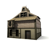 medieval building house 3d x