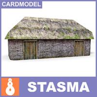 paper ukrainian shed 3d model