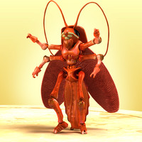 3d crytox beetle bugs model