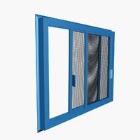 Double sliding insect screen
