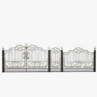 3ds max iron fence