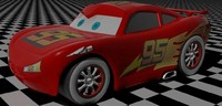 3d model of mcqueen lightning