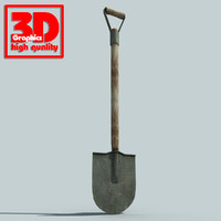 shovel modelled 3d max