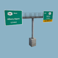 3ds overhead gantry sign