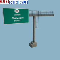 overhead gantry sign 3d max