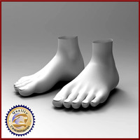 3ds max feet male