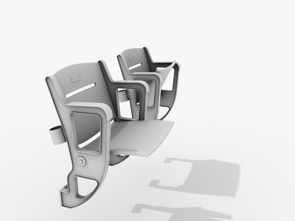 stadium seating chair 3d 3ds - Stadium Seating... by mrviz