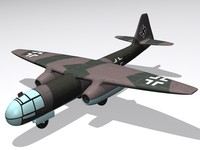 3d model german bomber