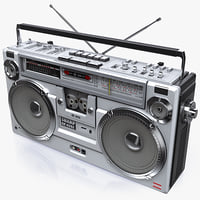 3d retro boombox sharp gf-9292