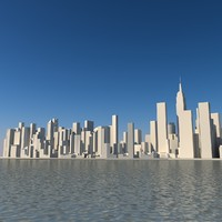 skyline manhattan 3d max